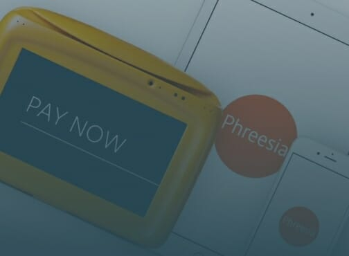 Thumbnail image for video, displaying PhreesiaPad, tablet, and mobile devices for point-of-sale payments